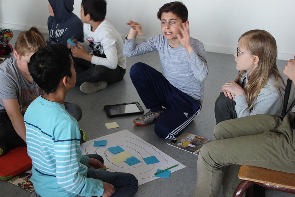 Brainstorm workshop at Gadehaveskolen mødes på midtes