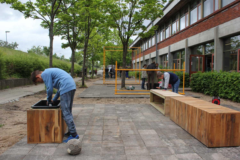 Unge laver stedsanalyse på Gadehave Skole